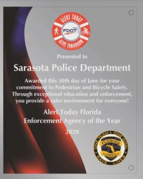 BRAVO!  Congratulations to our Traffic Unit! 🚨👏🏽🚔They were honored by @MyFDOT with the High Visibility Enforcement Agency of the Year! 🚨👏🏽🚔 You can learn more at