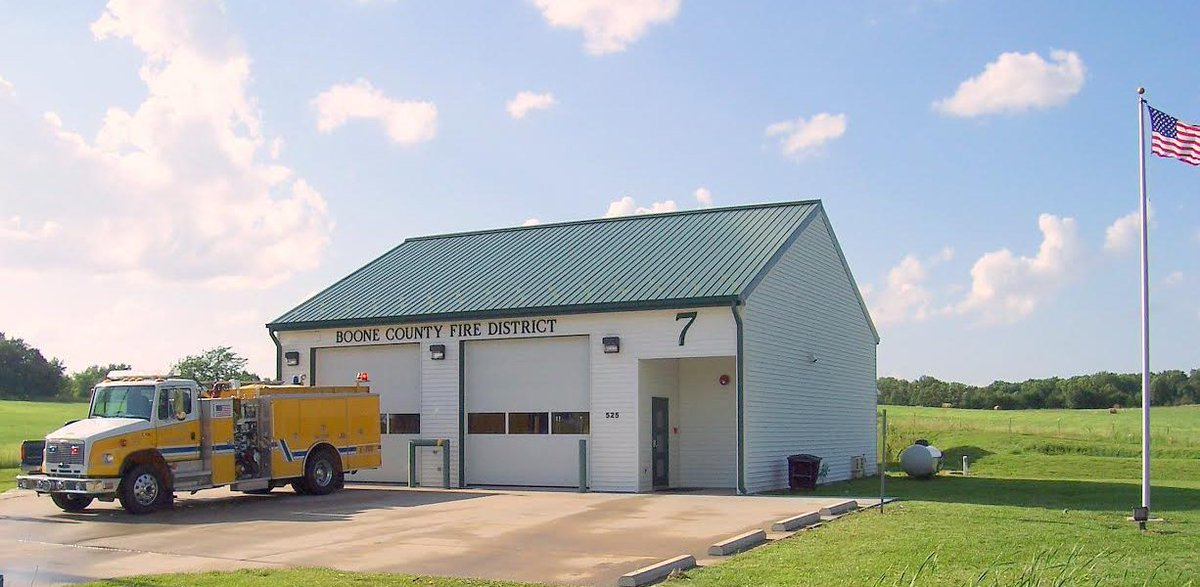 THROWBACK THURSDAY: BCFPD Station 7 (Dripping Springs) was built in 2004, part of the 2000 tax bond approval. It is located at 525 W. Dripping Springs Rd, approximately 3/4 of a mile west of U.S. 63. Initially, it was just an apparatus bay with no living quarters and one engine.