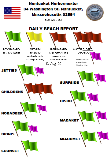 All beaches are open for the day.  Swimming remains closed at Children's beach. Continue to keep an eye out for jellyfish in these warm water temperatures!  #staysafe #covidsafe #safetyfirst
