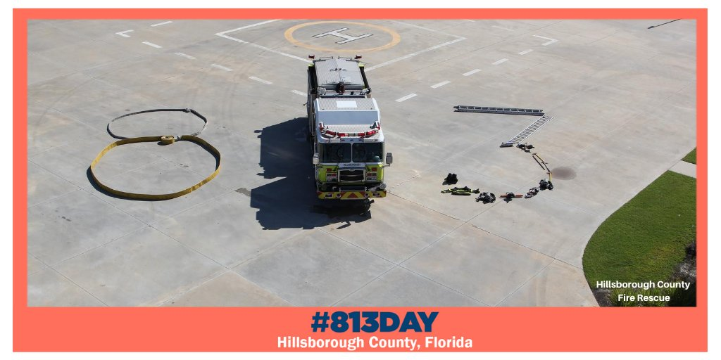 Whew... #813Day is burnin' up! 🔥  @HillsFireRescue is bringing the heat to the celebration by making their own