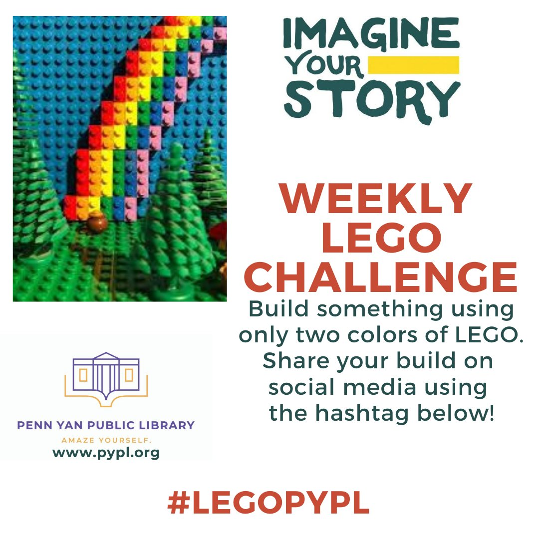 This week's #LEGOPYPL Challenge hopes that creativity is born from restriction. #LibrariesFromHome #ImagineYourStory