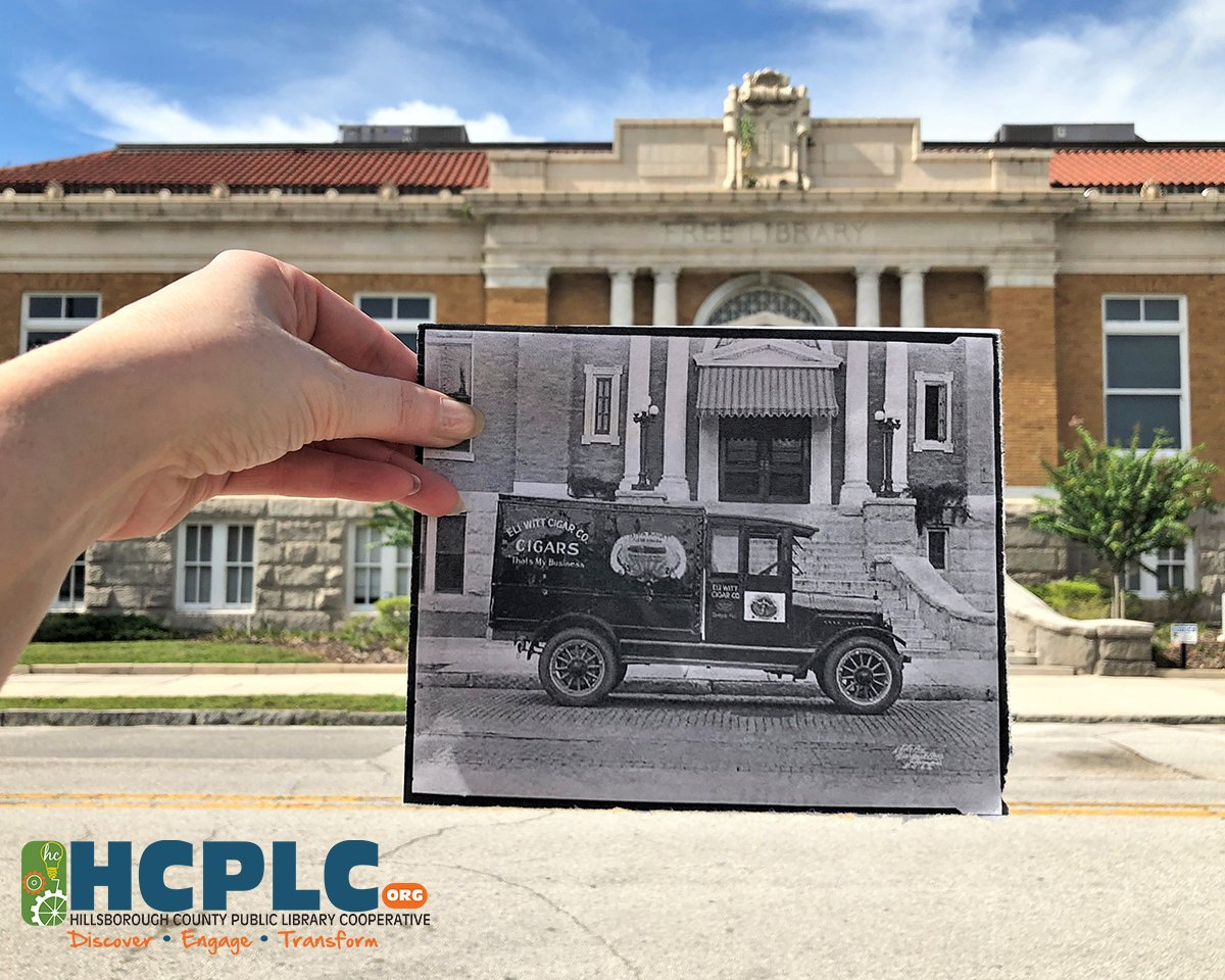 Happy #813Day @HillsboroughFL! You can find history around every corner. Tampa Free Library blast from the past featuring an Eli Witt Cigar Company truck in 1922.   Print courtesy of the HCPLC Burgert Brothers Photographic Collection, PA 5726.