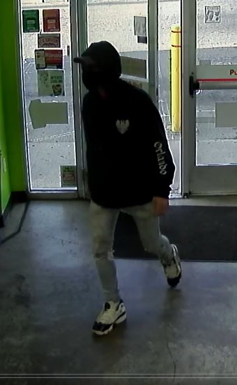 KNOW THIS ROBBER?  8/13/20@7:45am-suspect entered Shell@4431 Cleveland Ave.-approached counter-lifted his hoodie-showed handle of gun & demanded 💵  Suspect fled on @CoGoBikeShare 🚲 rode WB on Morse Rd.  Recognize hoodie &/or shoes?  CPD: 614-645-4484 jherman@columbuspolice.org