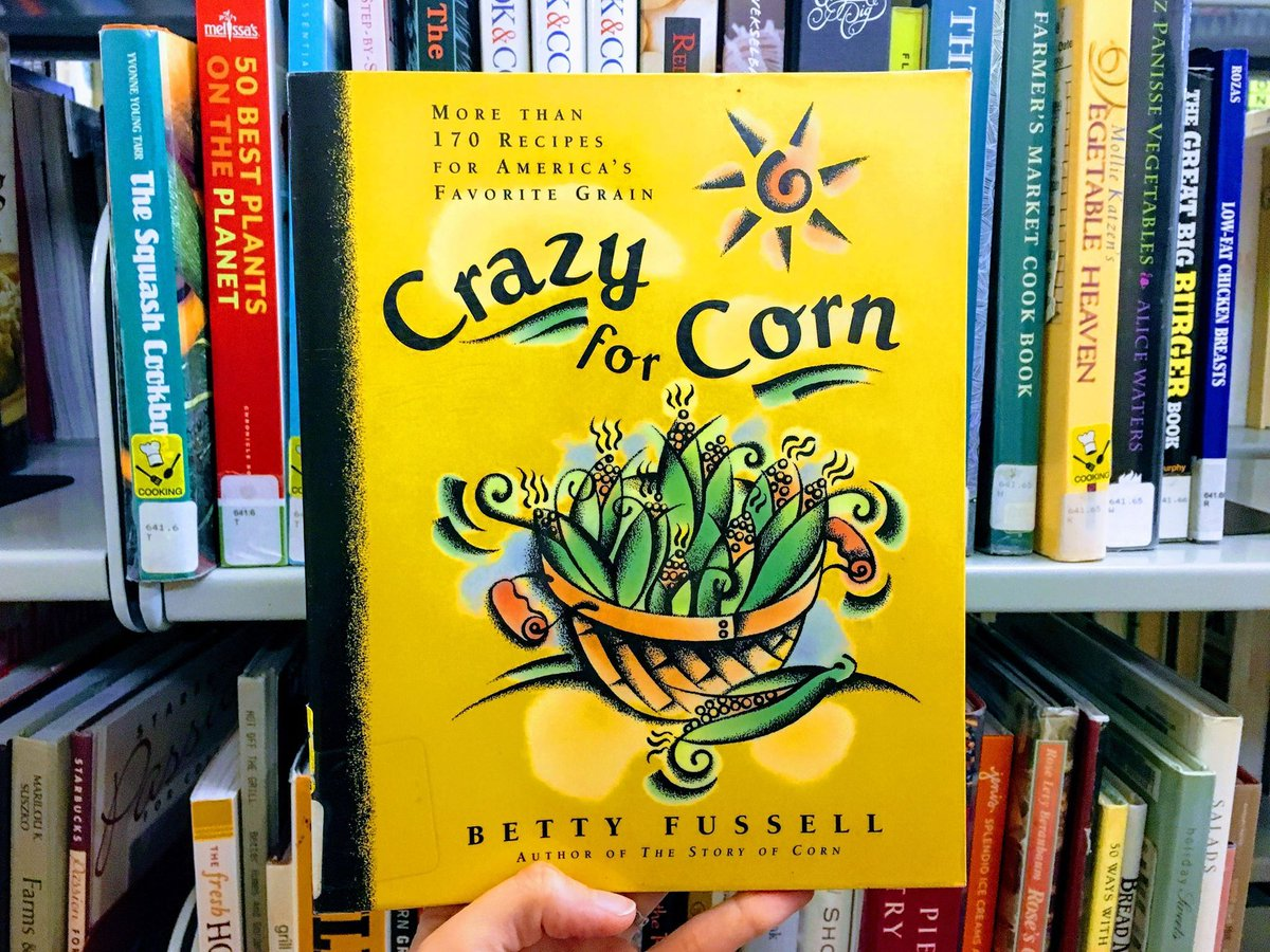 It's time for 🌽! We have just the book for America's favorite grain: Crazy for Corn by Betty Fussell. Check it out today after you stop by the #PiquaFarmersMarket. The market is Thurs. 3-6 pm in front of the #FortPiquaPlaza. #PiquaLibrary  #OhioFarmersMarket #MainstreetPiqua