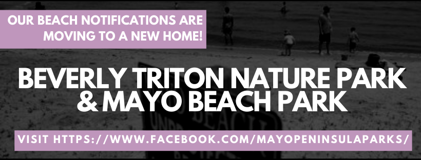 Going to the beach this weekend? Know before you go and get updates on Mayo Beach Park and Beverly Triton Nature Park capacity by visiting here: Mayo Peninsula Parks
