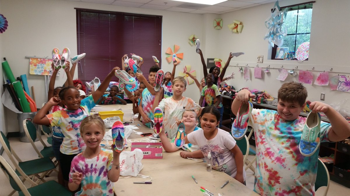 #ThrowbackThursday to the Summer of '15. We sure reminisce at the time when our centers were FULL of happy kids having fun with their friends and enjoying projects like tie dye shirts and shoes!