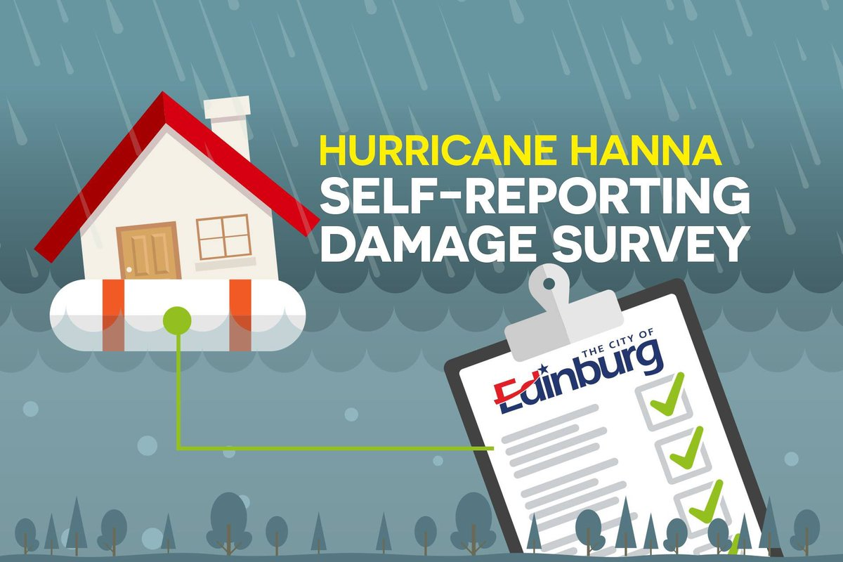 Have you filled out your Hurricane Hanna Damage assessment survey?  ‼️The last day to complete this survey is Friday, August 21, 2020 before 5pm.   Housing Damage Assessment:   Business Damage Assessment: