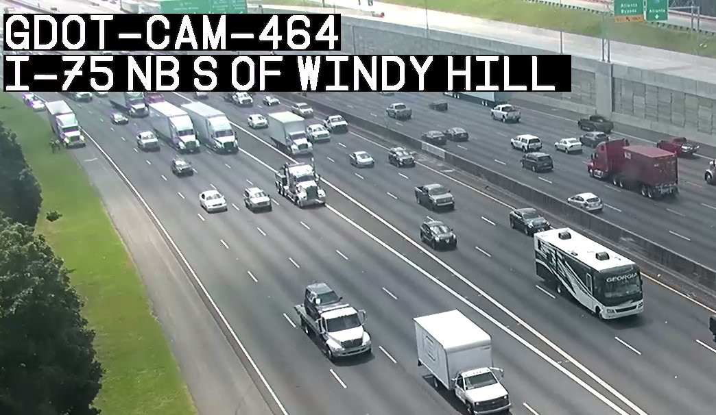 CLEARED:  I-75 NB lanes now OPEN.  #ATLtraffic