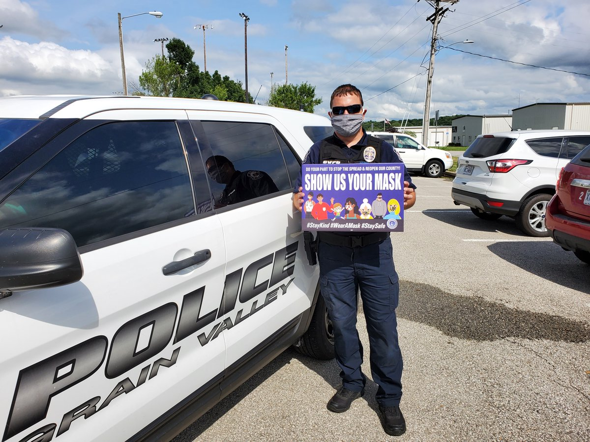 #ThankYou to the @gvpolice for wearing your #masks daily to ensure you're better protecting the #health and #safety of yourself and those around you! #WearAMak #ShowUsYourMask