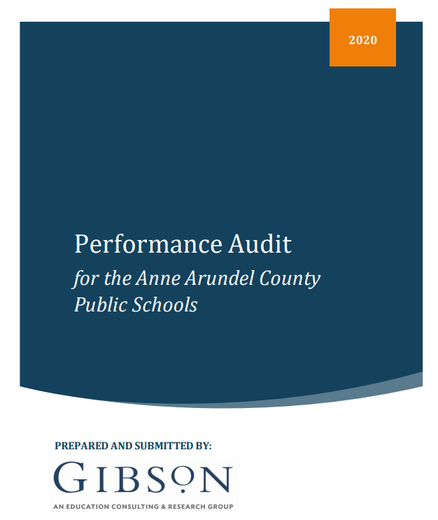 Performance audit commissioned by Board of Education now available on AACPS website