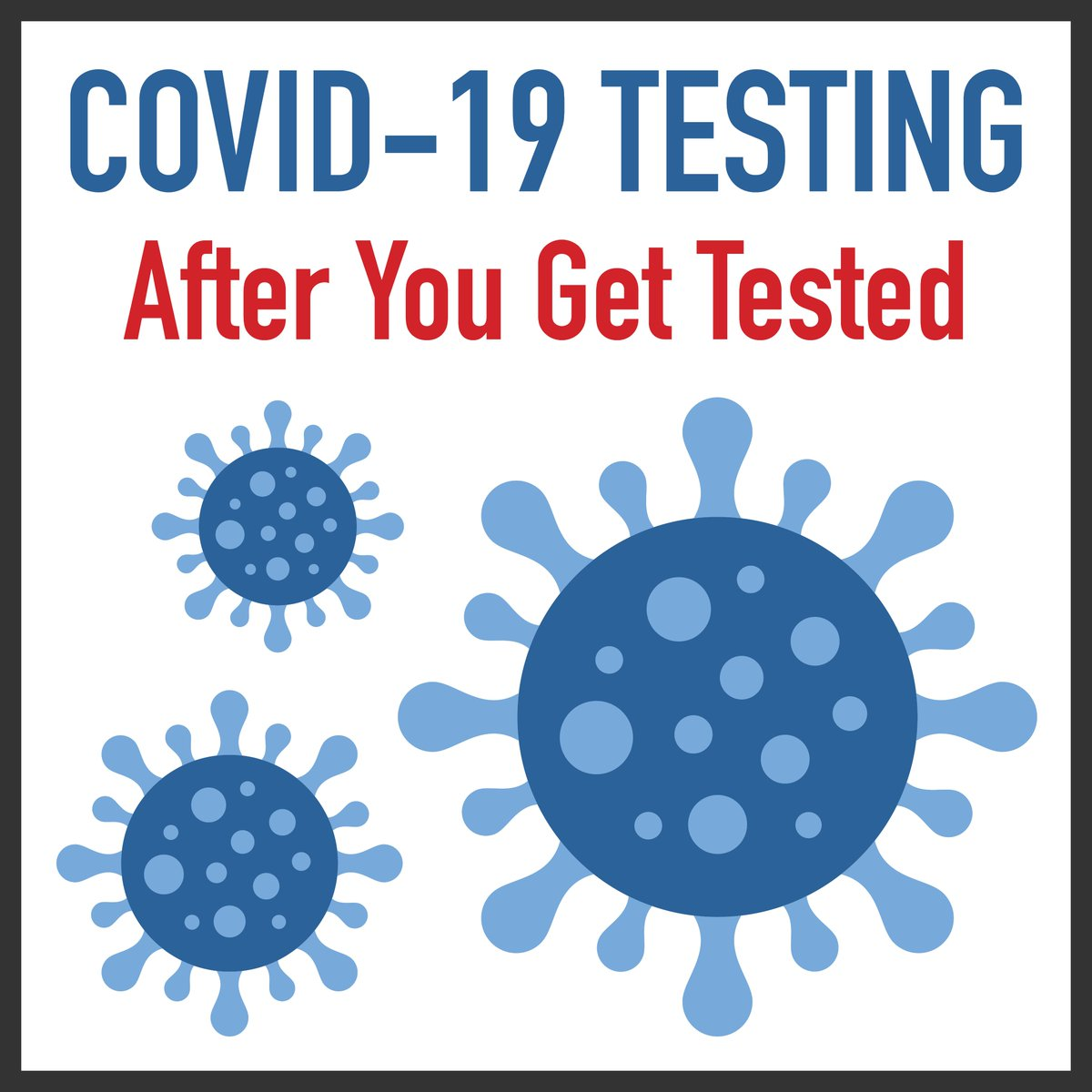 After you are tested for #COVID19, you should go home to self-isolate and remain there until you get your results from your healthcare provider. For more information on the testing process, visit .