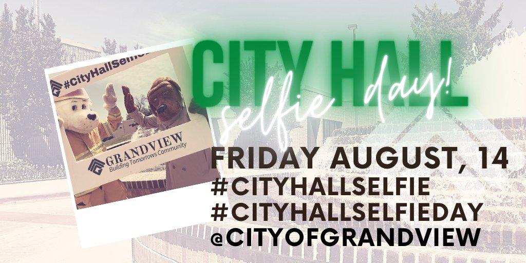 TONIGHT: ✔Charge phone  ✔Practice #CityHallSelfie  #Grandview #BuildingTomorrowsCommunity