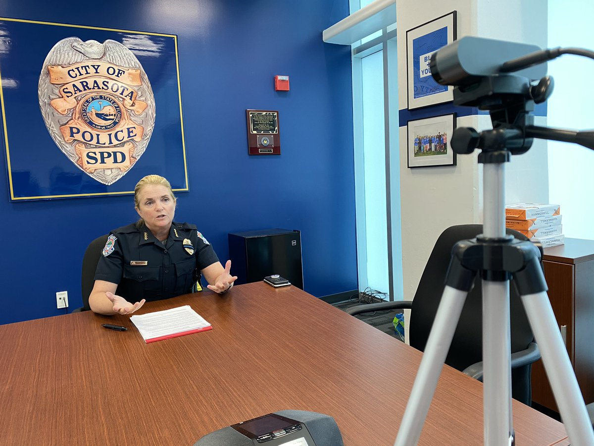 We appreciate our media partners @BrionaArradondo @FOX13News, @ValezkaSNN @SNNTV & @ReadCarlos @HeraldTribune speaking with Chief DiPino via Zoom about the shootings this week and the concerns we have.  You can catch the coverage later today.