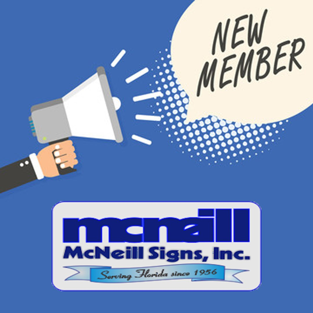 Welcome to our Chamber family, @mcneill_signsfl.  If you're a small business owner, don't miss a great chance! McNeill Signs has launched a contest to help five lucky winners get the improved signage and exposure they need!  Learn how to apply by visiting .