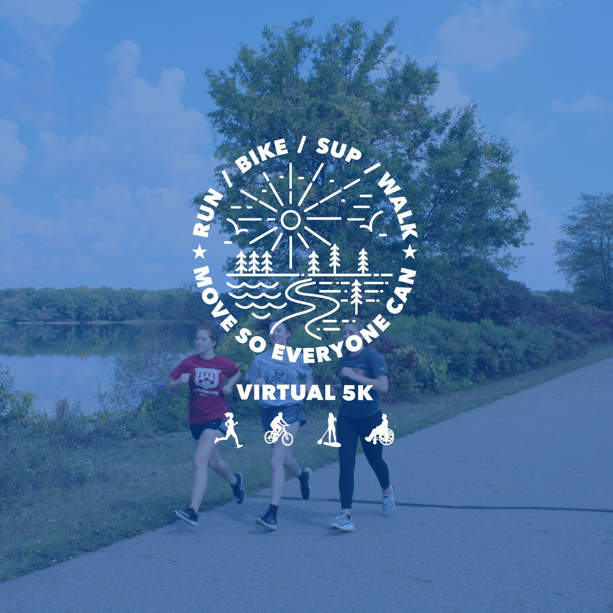 The mParks Foundation is hosting a Virtual 5k the month of September to raise funds for accessible recreation opportunities. Run, walk, skateboard, SUP, bike, surf, handcycle or swim a 5k anytime during the month. Register at .