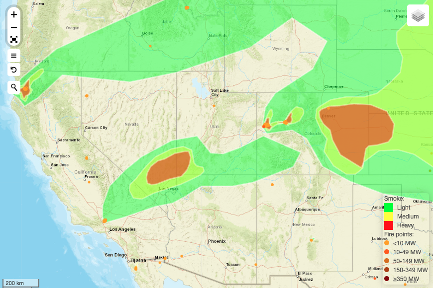 A lot of smoke around the West this morning. Most of it, for now, is missing the W. Front. Keep an eye on current conditions, the 3-day forecast and steps you can take to protect your health at .