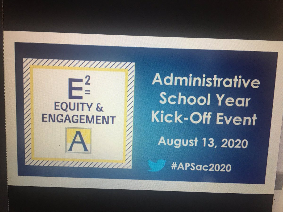 RT @GabyRivasAPS: Official start to 2020-2021 school year!  #equity #engagement #APSAC2020