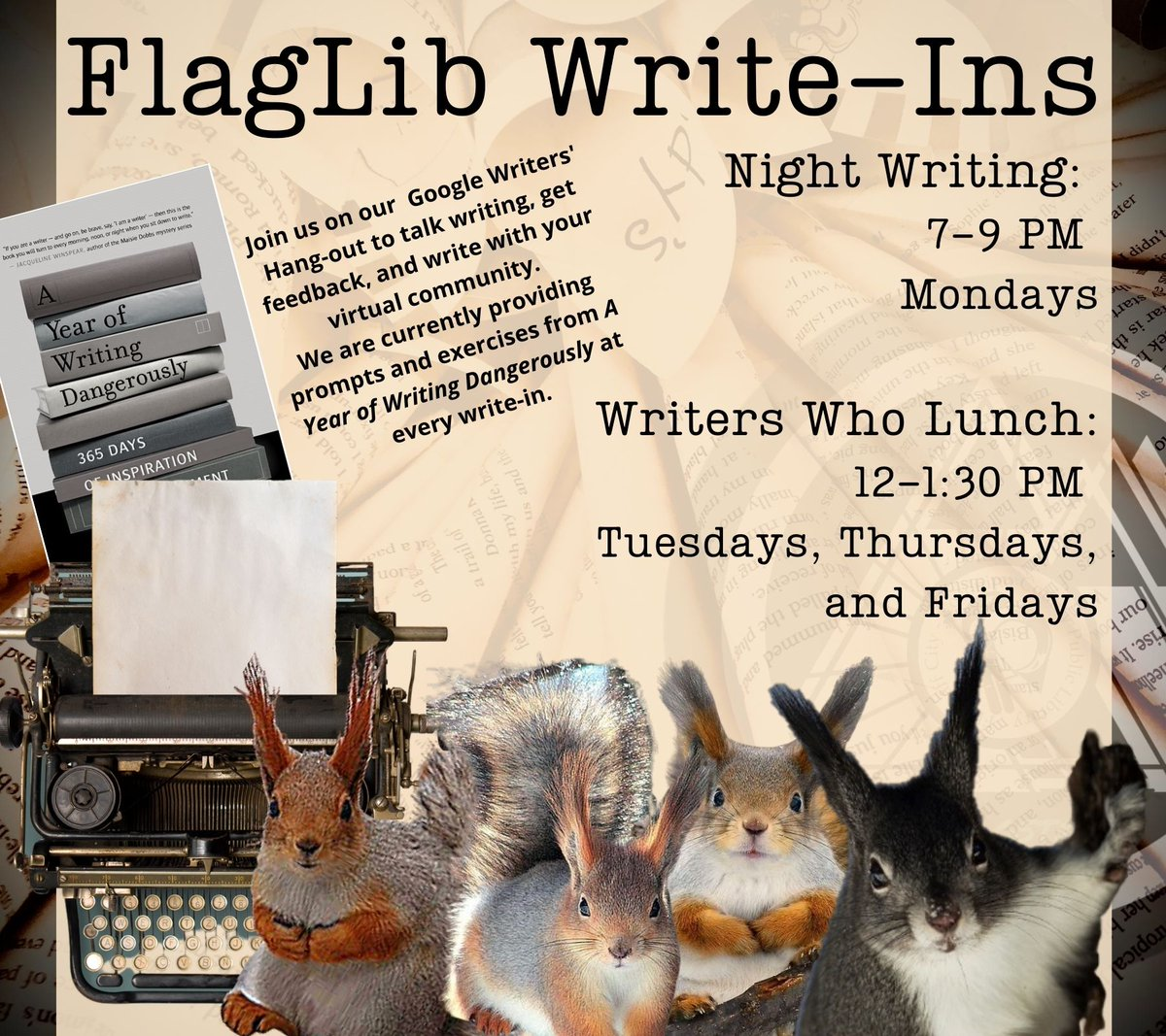Looking for some writers to write with or talk to? We are in the chat now!