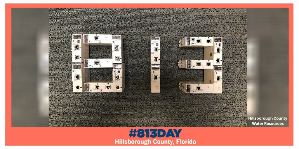 Thanks to our Water Resources team the #813Day meter is running at 100% and overflowing with fun! 🎉  Check out how you can get involved in the #813Day celebrations, here:
