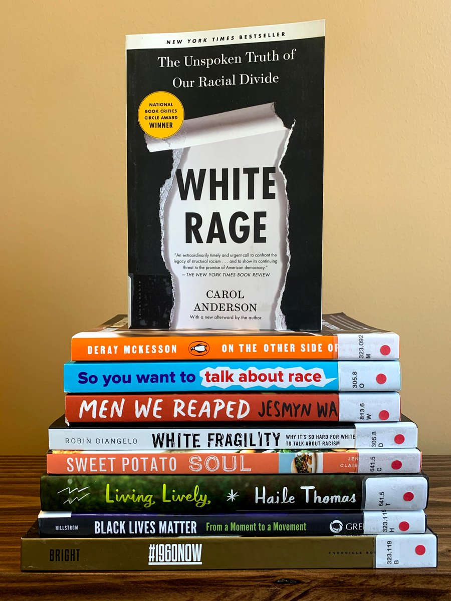 The #PiquaLibrary has some new books by #blackauthors and books that focus on #race, #racism, #civilrights + #blackhistory. Check out White Rage: The Unspoken Truth of Our Racial Divide by @ProfCAnderson. #BlackLivesMatter #LibrariesRespond #blackstories #blackwriters