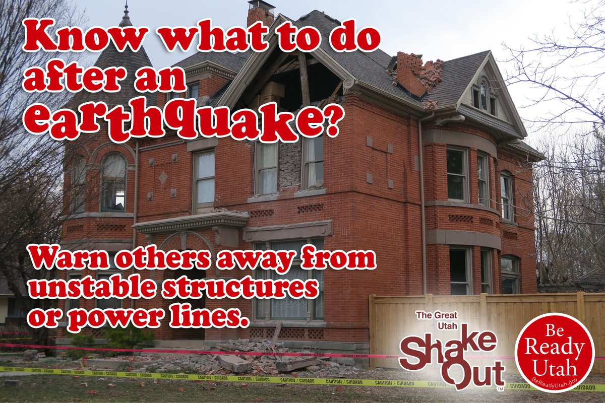 #Prepare to recover: It's been 4 months since the Magna Quake, have you registered your residential damage with FEMA yet? Go to