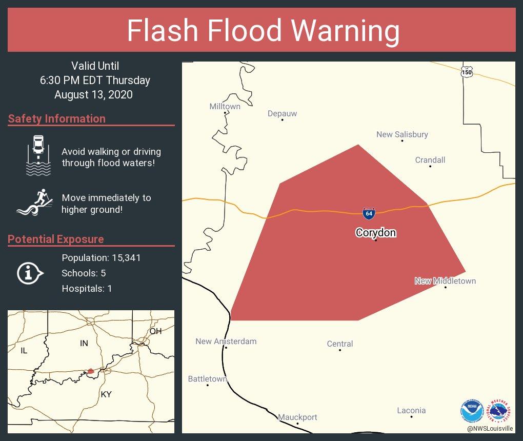 Flash Flood Warning including Corydon IN until 6:30 PM EDT