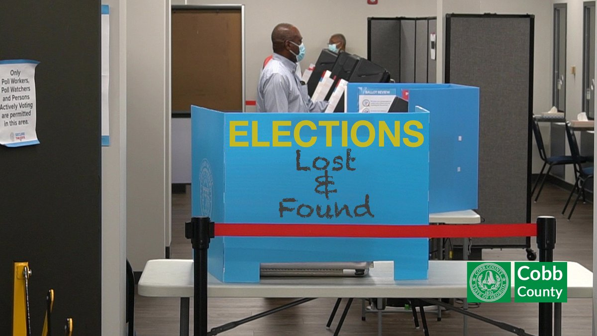 On election day, Cobb County poll workers found some money apparently dropped on the ground at a polling place.  If you lost this money and can identify the polling place and the amount, please contact the Elections Office at 770-528-2851.