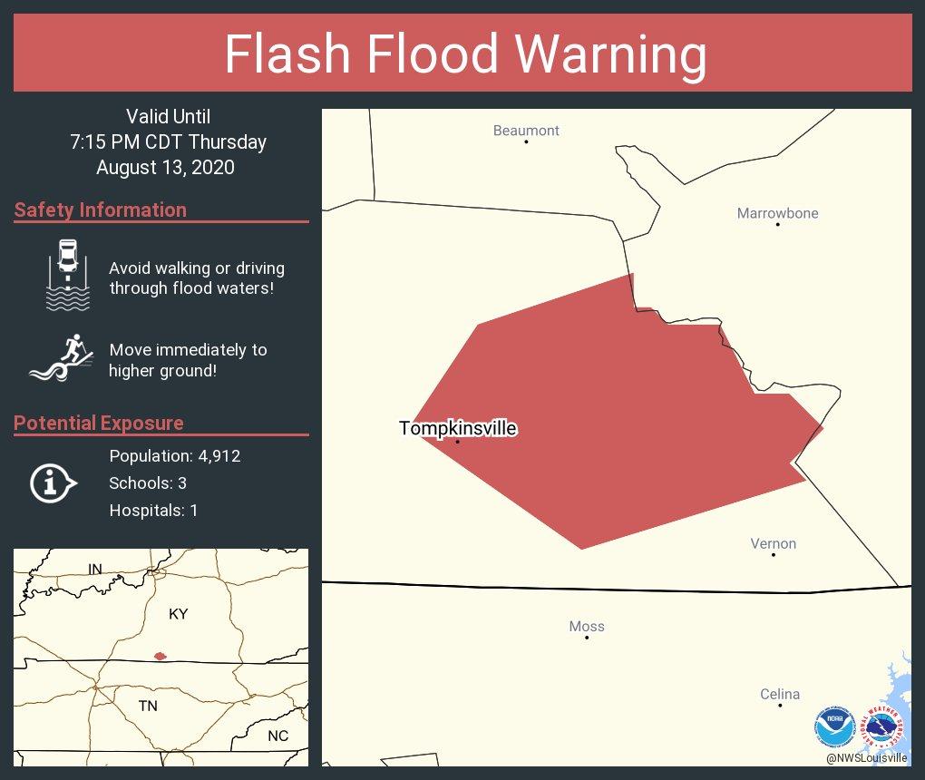 Flash Flood Warning including Tompkinsville KY until 7:15 PM CDT
