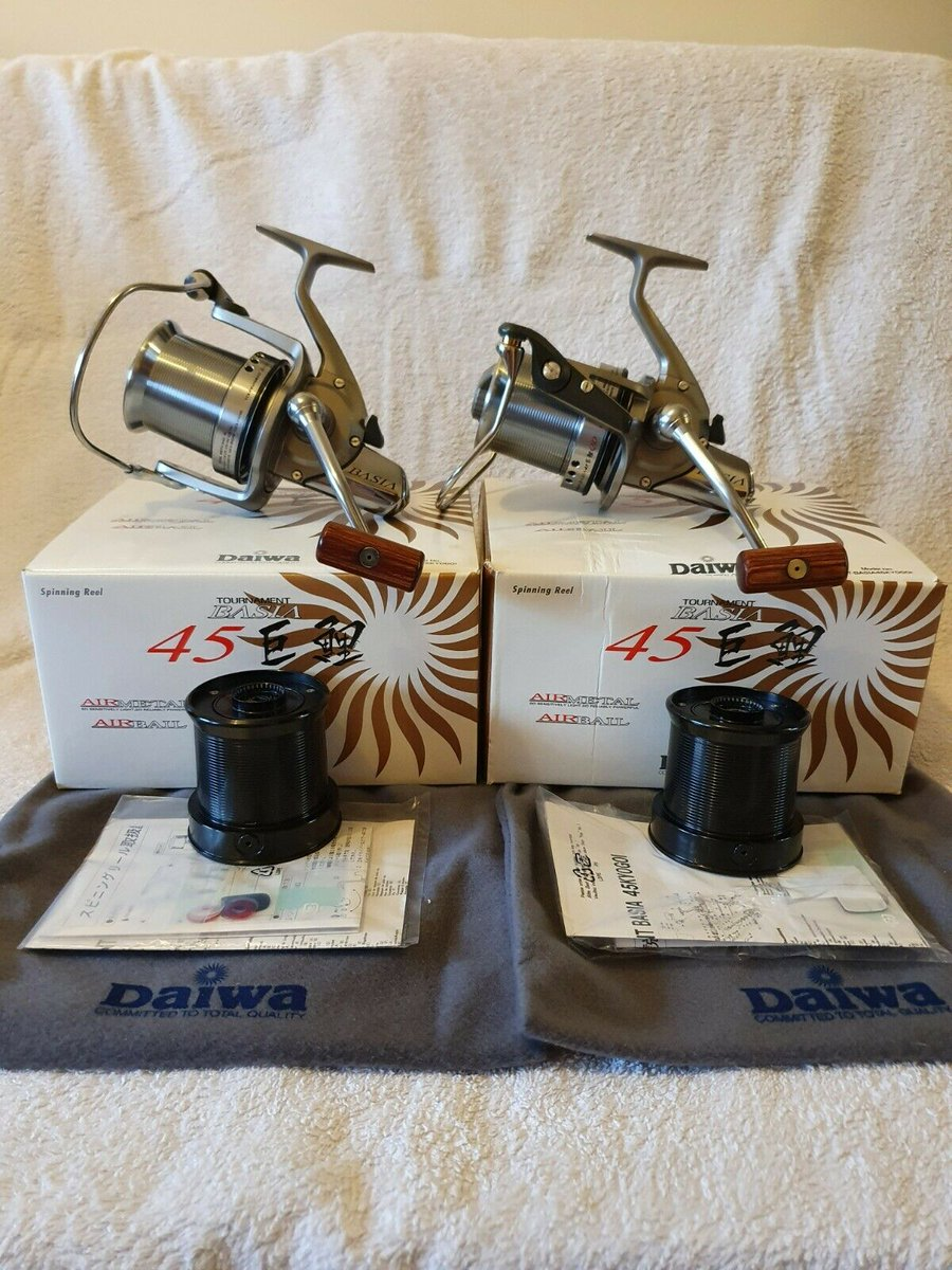 Ad - X2 Daiwa Tournament Basia 45 QD On eBay here -->> https://t.co/ybkB1QvAXi  #carp<b>Fishin