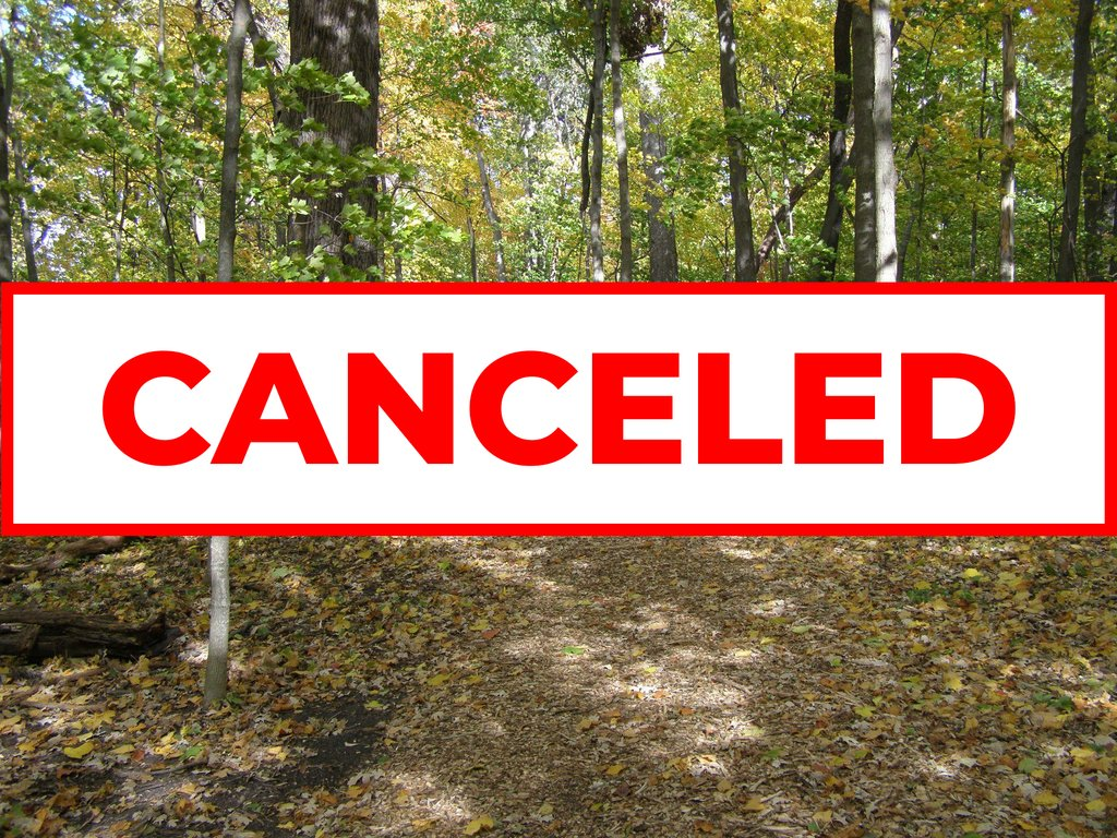The O'Hara Woods volunteer workday for August has been canceled.