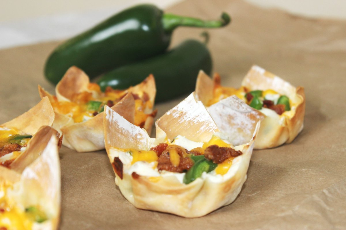 You'll Love These Delicious Bacon Jalapeno Popper Cups!  >>    #snackrecipes #snacks #recipes #appetizers