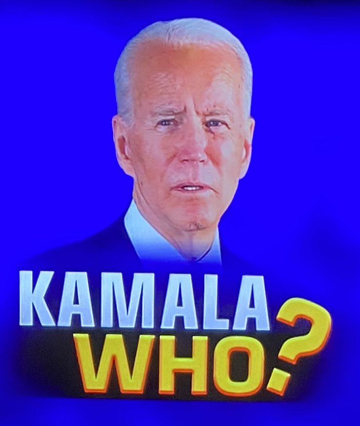 Biden's cognitive abilities are so far gone he can't even pronounce his running mate's name properly. This speaks volumes about his mental health. #Trump #maga #gop #potus #dems #seanhannity #tuckercarlsontonight #ingrahamangle #realDonaldTrump #Trump2020 #wattersworld