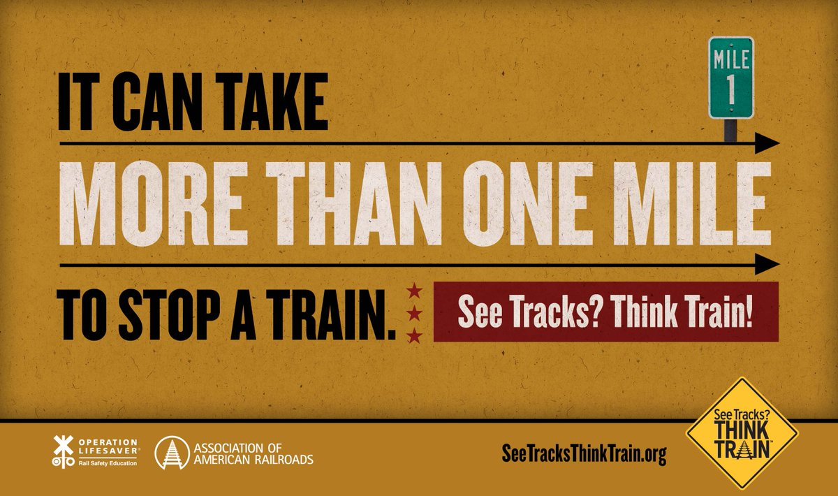 Never attempt to drive around lowered crossing gates or attempt to outrun a train. #STOPTrackTragedies