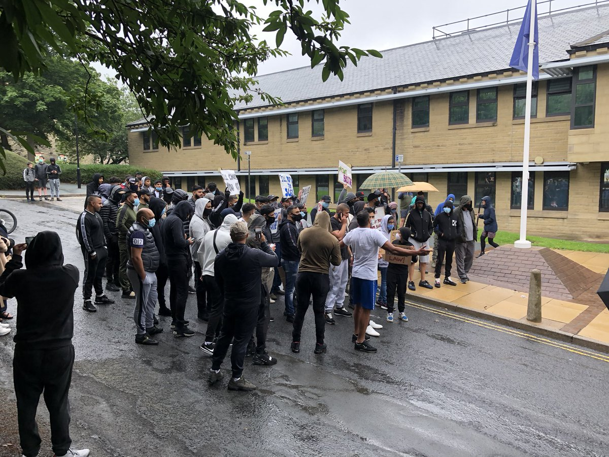 test Twitter Media - A demonstration of around 100 people has taken place at #Halifax #policestation today, for more on Jon Hills report watch @itvcalendar and @itvnews tonight from 6 https://t.co/zAGpEq2aSv