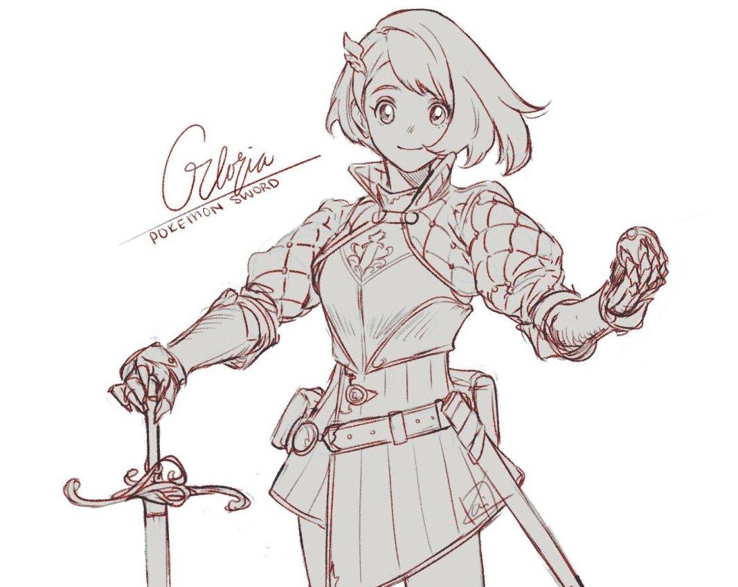Knight Gloria  #Swordtember #Sketchtember