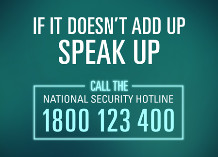 test Twitter Media - The National Security Hotline 1800123400 is a vital component of Australia's national counter-terrorism efforts. If something doesn't add up, speak up by calling the National Security Hotline on 1800 123 400; Email: hotline@nationalsecurity.gov.au; SMS: 0429 771 822 https://t.co/znVjRF2v8N