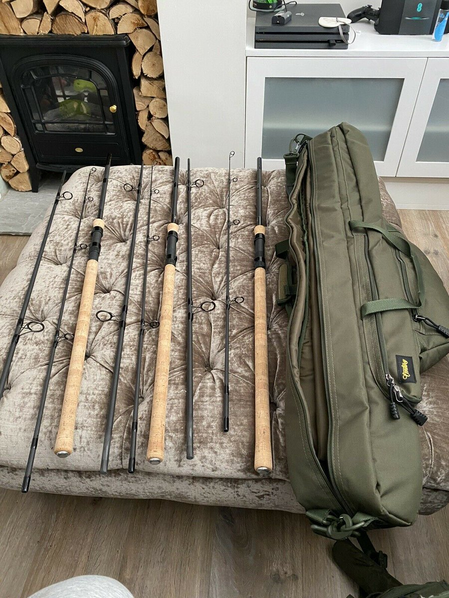 Ad - Century CQ Mk2 9ft Carp Rods x3 With Matching Rod Bag On eBay here -->> https://t.co/j31r