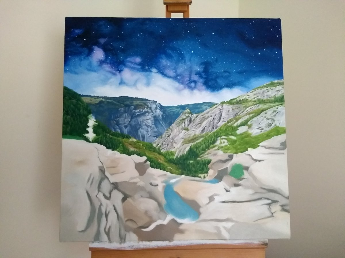 test Twitter Media - Hey Yosemite, missing you a lot while working on this one. Beautiful Nevada Falls. Base layer on, hopefully will get this filled in over the next month.  #yosemite  #nevadafalls #oilpainting https://t.co/HoJjySrTqU