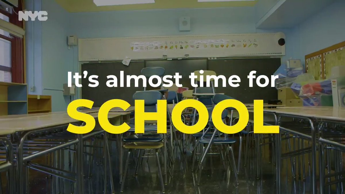 Tomorrow is the first day of in-person learning for 3-K, Pre-K and District 75!   Here's how we'll keep students and staff safe. #ReturnToSchool2020