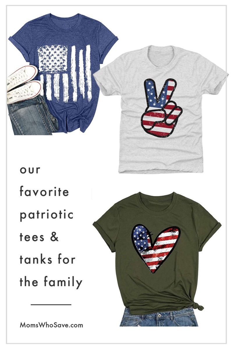 RT @MomsWhoSave: 12 Fun Patriotic Tees for the Family  >>   #deals