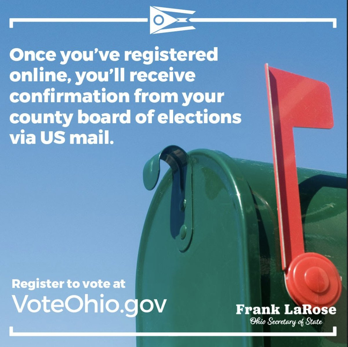 RT @LorainCoBOE: If you're newly registered to vote, keep an eye out for a confirmation letter!