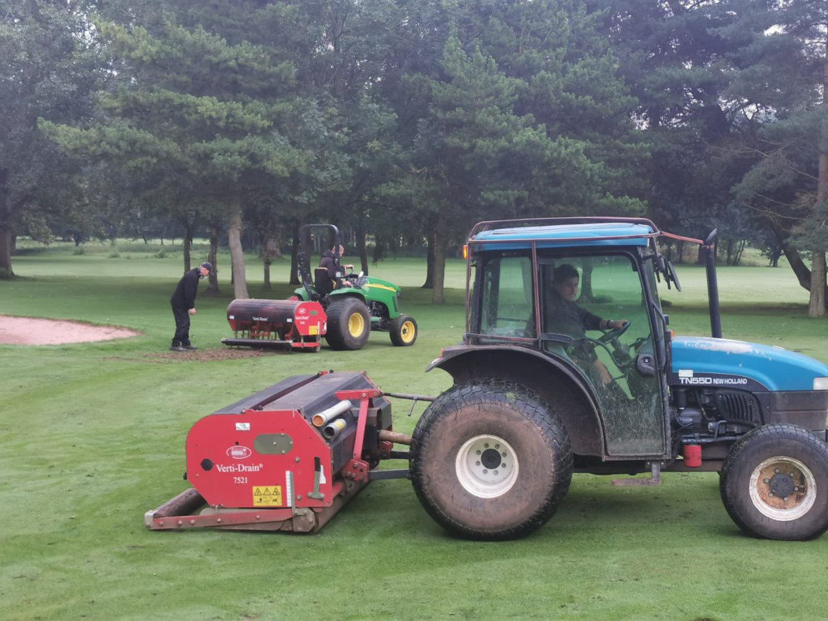 test Twitter Media - Course renovation work starts today.  Hollow core of surrounds and approaches this week.  Verti drain on the fairways and all the usual work in between.  Great work lads @IngestreParkGC @IanDaviesEEEgol @andyb381 @MidlandsGolfer @CampeyTurfCare @AgrovistaAMNTY @BunkerMat_com https://t.co/AaOCY61Xa4