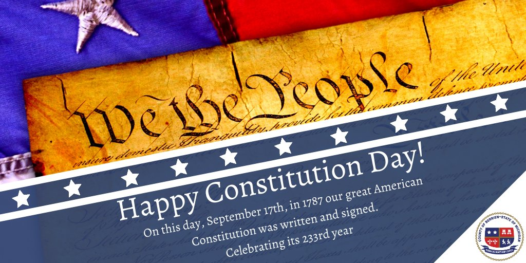 Happy Constitution Day! 🇺🇸 Our great American Constitution was written and signed on this day in 1787. #ConstitutionDay #Constitution