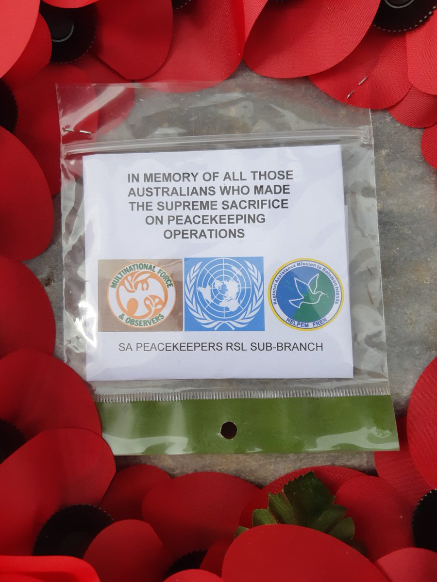 test Twitter Media - Australian National Peacekeeper Day was commemorated at 11am today with John Spencer placing a wreath at the SA National War Memorial on behalf of the SA Peacekeepers RSL Sub-Branch. Lest We Forget. https://t.co/oWFDLGsQ4t