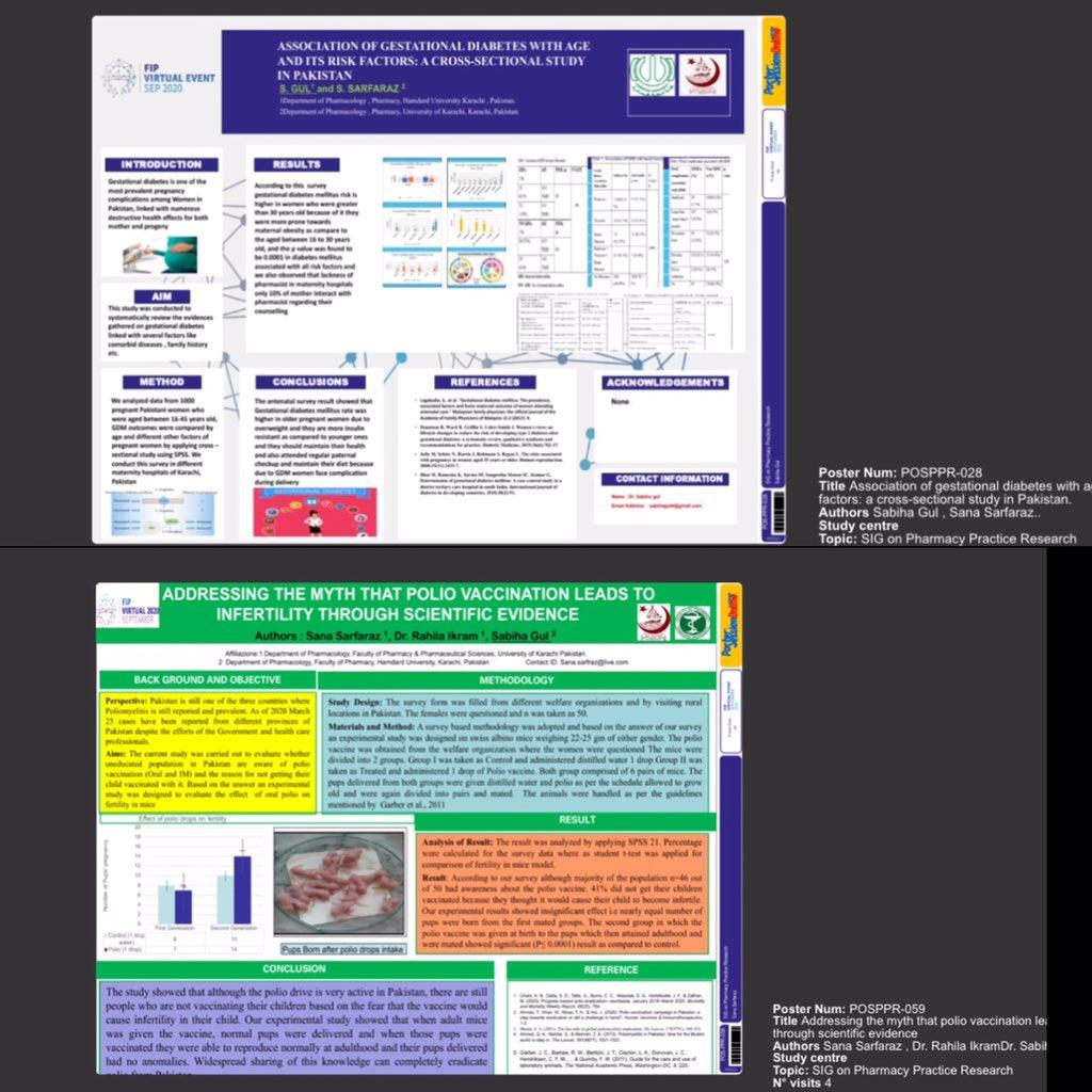 test Twitter Media - My 2 research work has been published in #FIP world congress 2020 Spain 🇪🇸 #GestationalDiabetes  #Poliomyelitis https://t.co/Yjzy0jGRNo