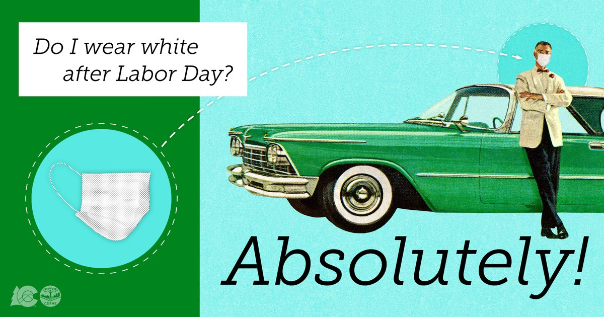 This year, throw out the old fashion rules. You can wear white after Labor Day. #covid19