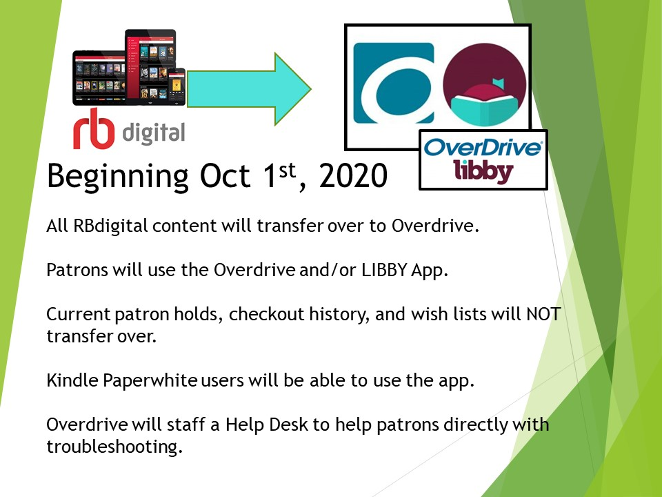 Upcoming changes to GADD RBdigital audiobooks and eBooks at the #libraryulove #GeorgiaLibraries