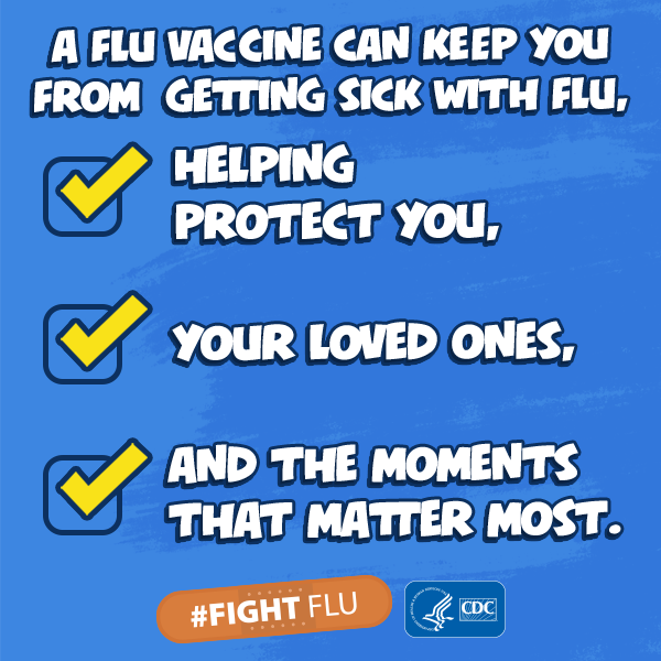 Get your flu shot! Everyone 6 months of age and over should be vaccinated every year against the flu. It is more important than ever this year during the ongoing COVID-19 pandemic.  #fightflu #spreadlovenotflu