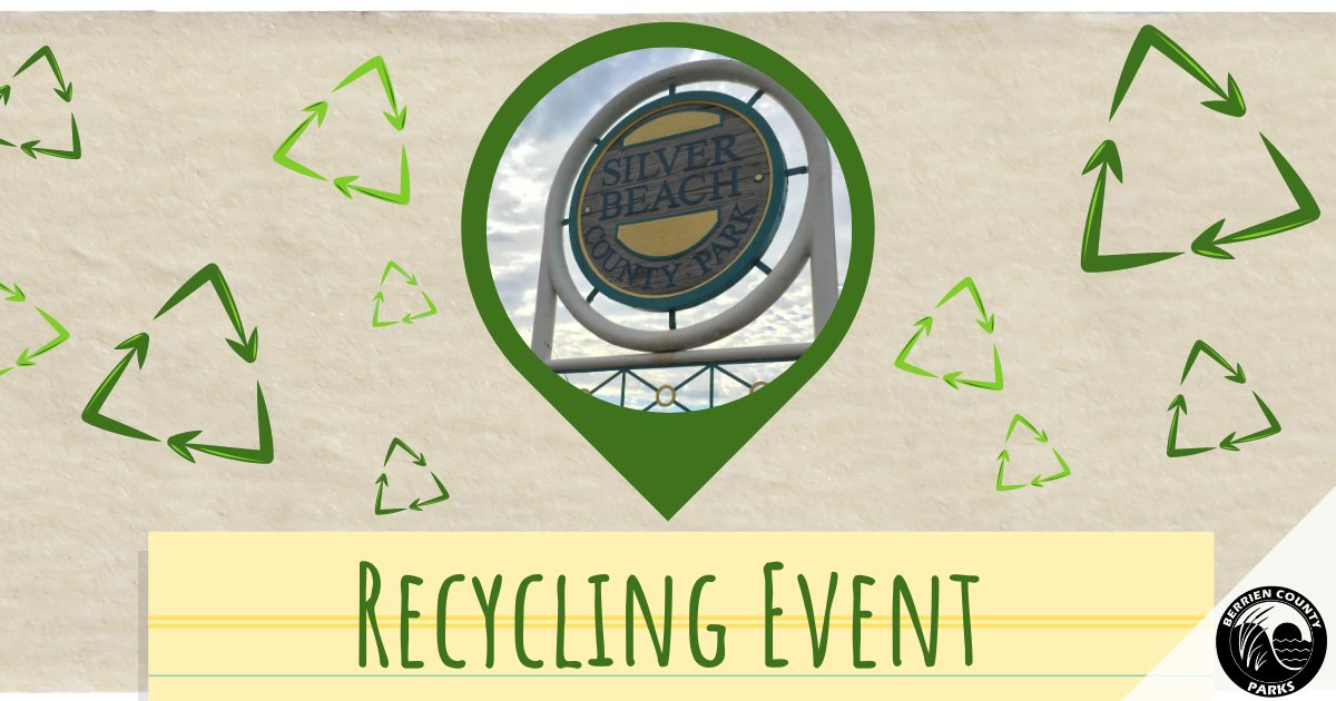 Today! Community (Drive Thru) Recycling Event ♻️ September 19th, 2020, 9 a.m. - 1 p.m. at Silver Beach. See acceptable recycling items:  #Recycling #Recycle #Safe #Disposal #Chemicals #Foam #ElectronicDisposal #BerrienCounty #SouthwestMichigan