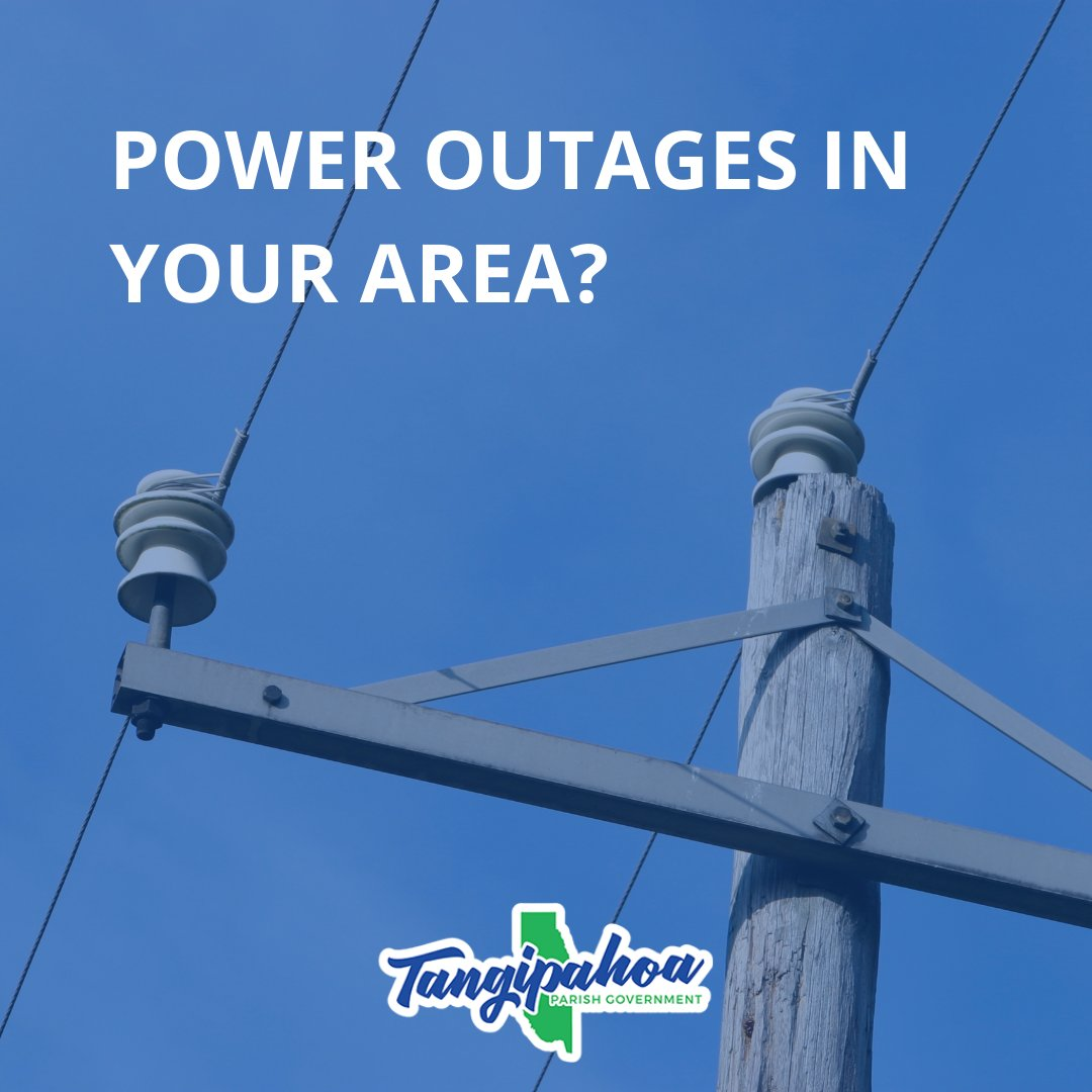 Helpful resources if you experience a power outage during severe weather:  Entergy outage map  Entergy free app . Sign up for text alerts from your cellphone text REG to 36778. Call at 800-9OUTAGE (800-968-8243) to report an outage